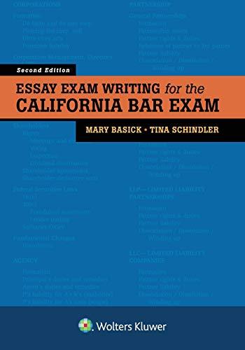 Essay Exam Writing for the California Bar Exam
