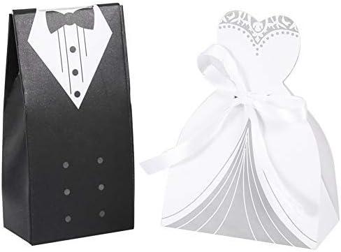 100 PCS Translated Romantic Cardboard Candy Shape Bride Box Bridegroom Ranking TOP16 Deco