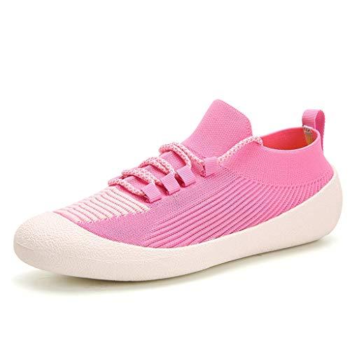 YQQMC Calcetines de agua elásticos para hombre y mujer, de secado rápido, con suela suave, transpirables, color rosa, talla 35EU