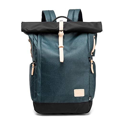 Mochila para Ordenador portátil, Bolsa de Viaje para Exteriores, Carga Externa USB, Impermeable, antiarañazos, Azul (Azul) - 8454512159749