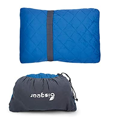 Bisgear Camping Pillow Compressible Memory Foam Pillows - Perfect for Backpacking?Airplanes Travel, Road Trips?Hammock Bed & Sleeping Bag - Ultra Light & Super Compact & Comfortable