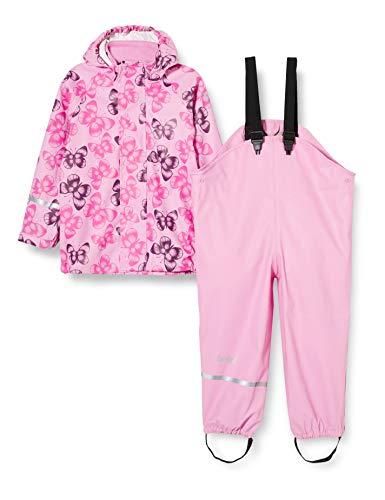 CareTec 4003 Chubasquero y Pantalones Impermeables para niños, Rosa, 9-12 Meses, Pack de 2