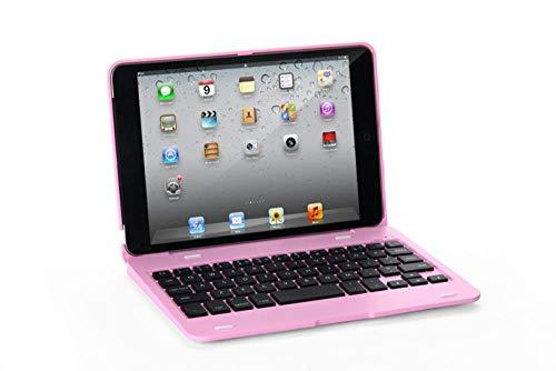 hangong Concise Flip Bluetooth Keyboard For Ipad Mini1 2 3 Generation Wireless Bluetooth Keyboard Cover For Ipad Mini1 Mini2 Mini3 (Color : Pink, Size : For Ipad mini 1 2 3)