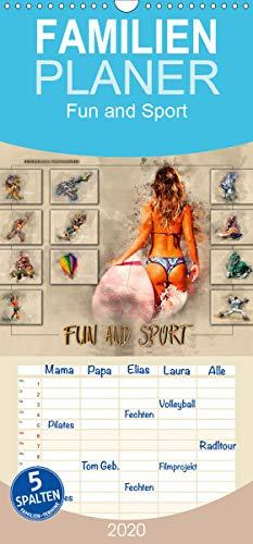 Fun and Sport - Familienplaner hoch (Wandkalender 2020 , 21 cm x 45 cm, hoch): Fun und Sport, voll im Trend. (Monatskalender, 14 Seiten ) (CALVENDO Sport)