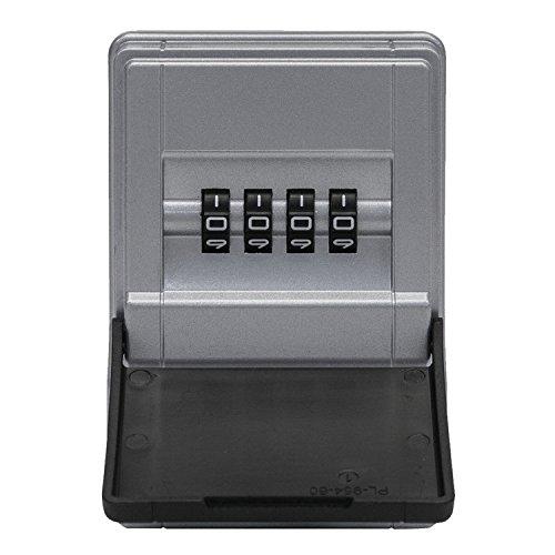 ABUS KeyGarage™ 727 Mini - Schlüsselbox zur Wandmontage - für bis zu 8 Schlüssel oder kleine Wertgegenstände - Schwarz-Silber