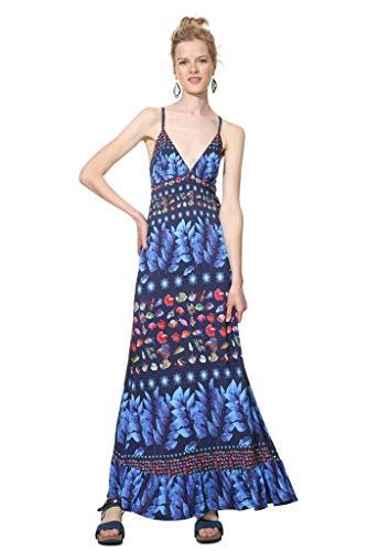 Desigual Vest Greta Vestito, Blu (Marino 5001), XL Donna