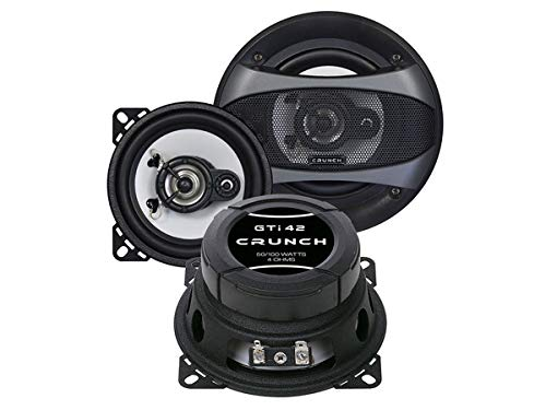 Crunch Lautsprecher GTi42 300W 100 mm 2 Wege Koax passend für VW T4 1990-1995...