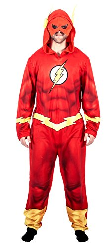 Briefly Stated Justice League America The Flash Union Suit Costume Pajama (Adult Large)