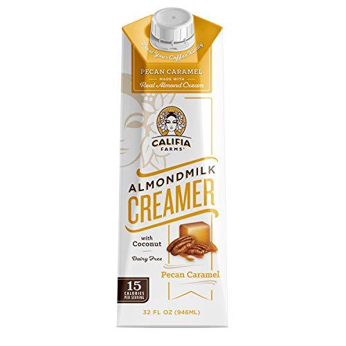 Califia Farms - Pecan Caramel Almond Milk Coffee Creamer with Coconut Cream, 32 Oz (Pack of 6)   Dairy Free   Soy Free   Plant Based   Vegan   Non-GMO   Shelf Stable   Gluten Free