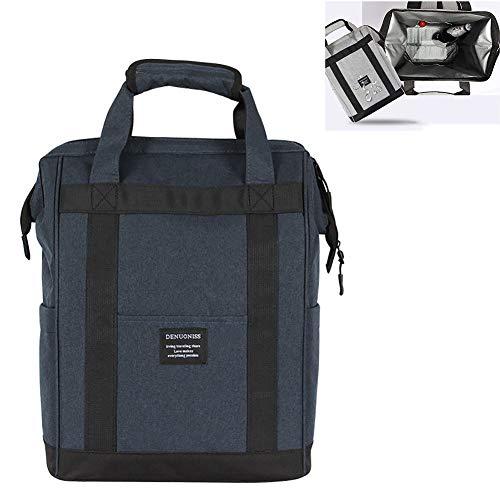 Yajun Sacs Isothermes Oxford Fraîcheur Lunch Box Hommes Femmes Portable Pique-Nique Ice Pack étanche Alimentaire Frais Garder Les Conteneurs,Blue