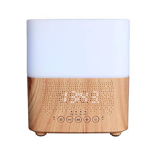 SEGIBUY Houten etherische oliediffuser, ultrasone 300 ml, aromadiffuser met mistcontrole, wekker, bluetooth-licht voor yoga, kantoor, slaapkamer