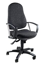 Topstar 9020AG22, Trend SY 10, office chair, desk chair, ergonomic, with armrests, fabric anthracite