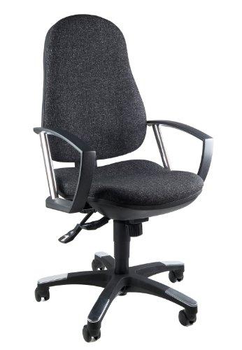 Topstar 9020AG22, Trend SY 10, Bürostuhl, Schreibtischstuhl, ergonomisch, mit Armlehnen, Bezugsstoff anthrazit