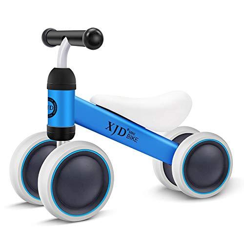 XJD Kinder Laufrad Lauflernrad Balance Fahrrad ohne Pedale Dreirad Spielzeug, Empfohlenes Alter: 10-24 Monate (Blau)