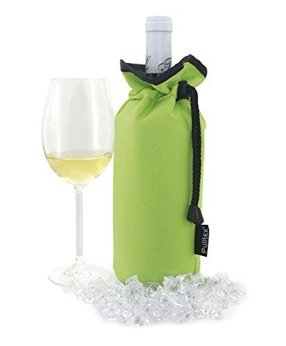 Pulltex Vino Cooler Bag, Nylon, Lime, 18.5x 12x 4.2cm