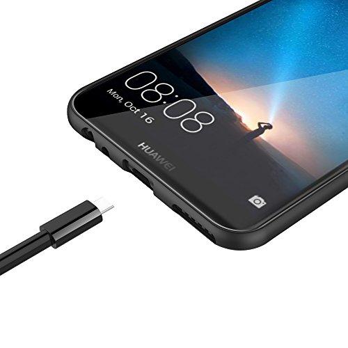 EasyAcc Huawei Mate 10 Lite Hülle Case, Schwarz TPU Telefonhülle Matte Oberfläche Handyhülle Schutzhülle Schmaler Telefonschutz für das Huawei Mate 10 Lite - 5