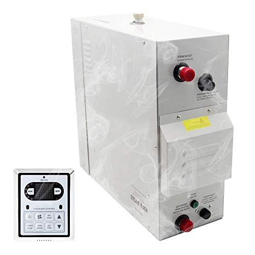 YJINGRUI 12 kW Auto-Drain Dampfbad Generator Dampfbad Dusche Sauna Dampfgenerator für Dusche Saunabad Zuhause SPA 12 m³ mit Wärmespeicherung selbstentleerend 220 V-240 V 50/60 Hz