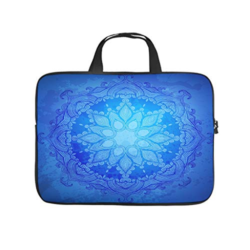 Laptop Bag Dark Blue Dustproof Comfortable Briefcase Compatible with 13 - 15.6 Inch Notebook
