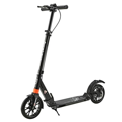 Best Price ZFF 2 Wheel Height Adjustable Lightweight Foldable Scooter with Disc Brakes Dual Shock Ab...