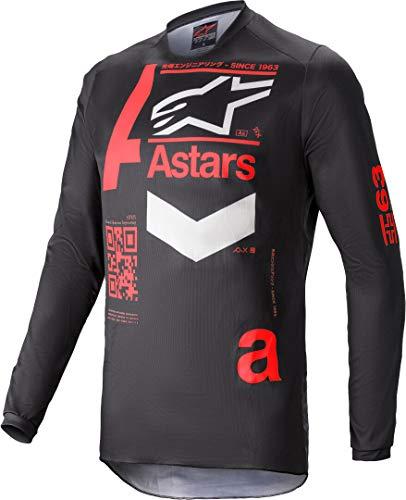 Alpinestars Fluid Chaser - Camiseta de motocross (talla L), color negro y rojo