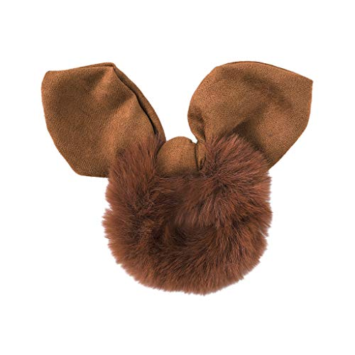 jieGorge Women Cute Solid Rabbit Ears Plush Hair Ring Head Hoop Sweet Girls Headband , Headband , Clothing Shoes & Accessories Sales (Brown)