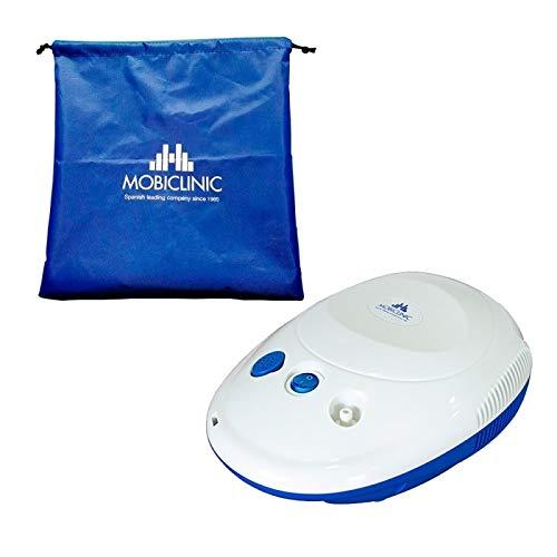 Mini Nebulizador compresor, Blanco y azul, Neb-1, Mobiclinic