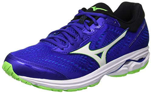 Mizuno Wave Rider 22, Men's Running, Multicoloured (Surhthewe/Whi/Greeng 001), 14 UK (50 EU)