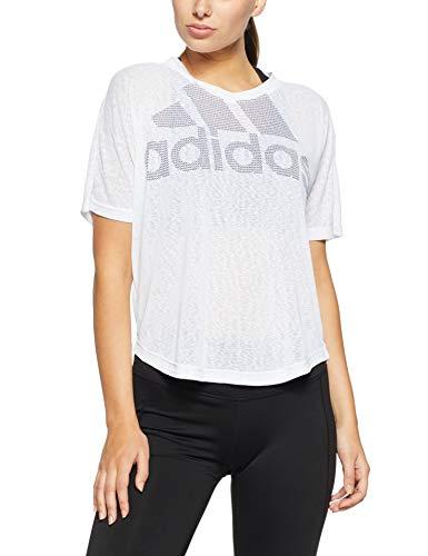 adidas Magic Logo tee Camiseta Deporte, Blanco (White White), 36 (Talla del Fabricante: Small) para Mujer