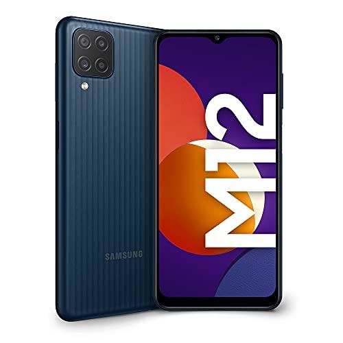 Samsung Galaxy M12 Smartphone Android 11 Display da 6,5 Pollici 4 GB di RAM e 64 GB di Memoria Interna Espandibile Batteria da 5.000 mAh Nero [Versione Italiana]