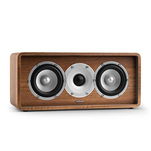 NUMAN Retrospective 1979 C - Center Lautsprecher, Center Speaker, Center Box, HiFi Lautsprecher, 2-Wege-Lautsprecher, integrierte Schallführung, MDF-Gehäuse, vergoldete Kontake, walnuss