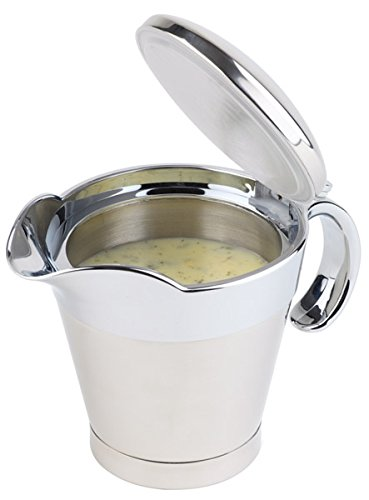 APS Thermo-Sauciere mit Klappdeckel, doppelwandig, Einhandbedienung - Saucenschale, Wärmehalter für Saucen - Füllvolumen 0,4 l