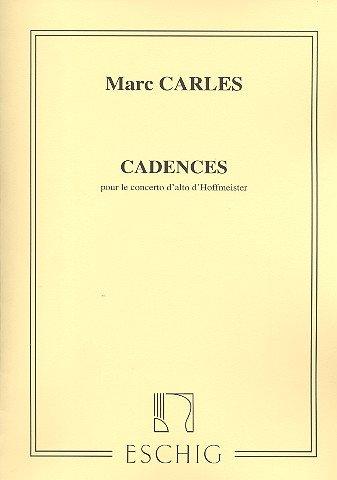 Cadences pour le Concerto d'Alto d'Hoffmeister  Alto