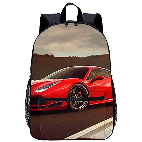 Mochila 3D Viaje Mochila Ferrari superdeportivo gtb Adecuado para: estudiantes de primaria y secundaria, la mejor...