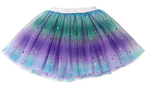 Simplicity Girls Tutu Skirt Purple Rainbow Princess Ballet Toddler Tutu for 2-6 Years