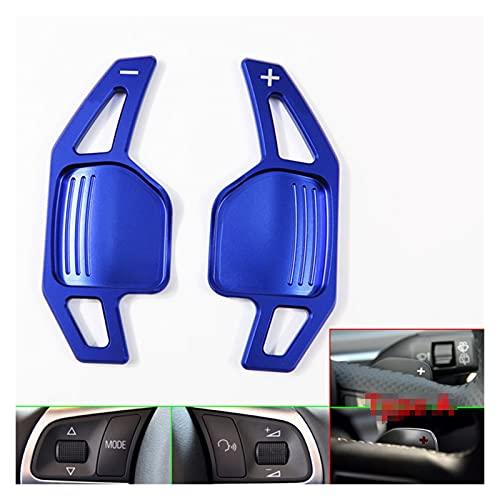 WOAIWO LingDian Adatto per Audi TT TTS MK2 8J A5 S5 Coupé A4 B8 A3 8P S3 Q5 A8 R8 Sportback Quattro Sline Volante DSG Shift Paddle Extension (Color Name : Blue)