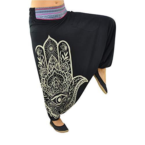 virblatt - harembroek dames en heren in S - XXL Goa-broek hippie-broek dames Aladdin-broek dames hippie-kleding