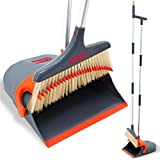 Best Broom And Dustpans - Broom and Dustpan Set Upright with Aluminum Handle- Broom Review