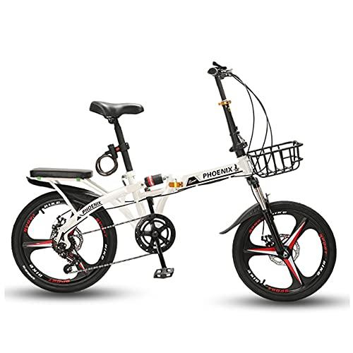 ROYWY Bicicleta Plegable para Adultos, 16 Pulgadas Bike Sport Adventure - Bicicleta para Joven, Mujer Mountain Bike, Aluminio, Unisex Adulto