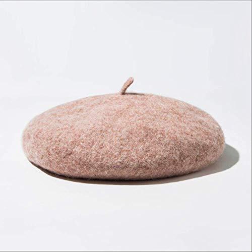 DUKEMG Süße warme Baskenmütze Hut Frauen Kürbis Hut lässig ausgehen einkaufen Süße Wilde weiche Bequeme einfarbige warme Einheitsgröße Mokka