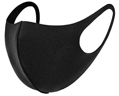 5 x Mundmasken für Freizeit Sport Training Mundschutz Staub Pollen Gesichtsmaske Fashion Maske Gesichtsschutz Face Masks Sportmaske waschbar Z schwarz