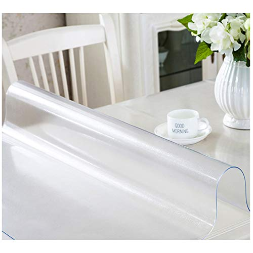 Protector de mesa de PVC esmerilado de tamaño múltiple por encargo, protector de mesa para cocina, comedor, muebles de madera, tapete de mesa para escritorio de oficina, escritorio, escritorio, sofá