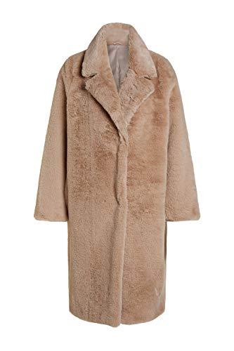 Oui Damen Mantel Fur-Free Uni Wintermode