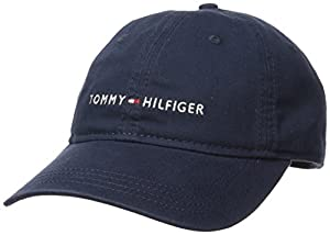 Tommy Hilfiger Men's Logo Dad Baseball Cap, Tommy Navy, One Size