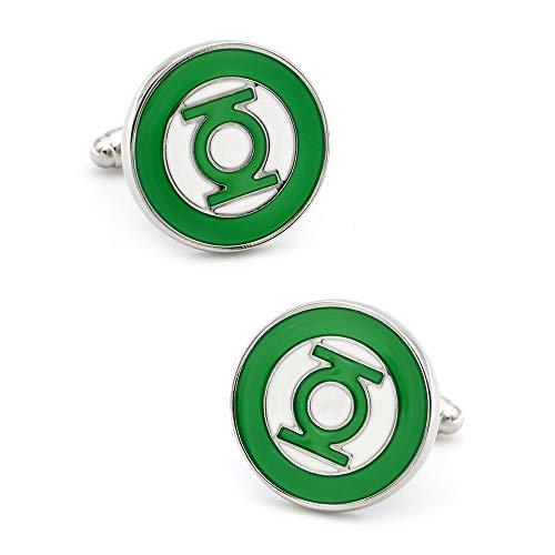 SHAOWU Superhelden Design Green Lantern Manschettenknöpfe Qualität Messing Material Grüne Farbe Manschettenknöpfe
