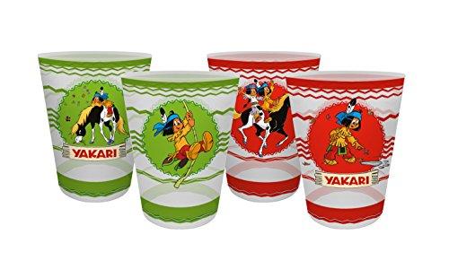 Yakari 4er Set (2017) Mehrwegtrinkbecher, Kunststoff, Mehrfarbig, 8 x 8 x 10,5 cm, 4-Einheiten