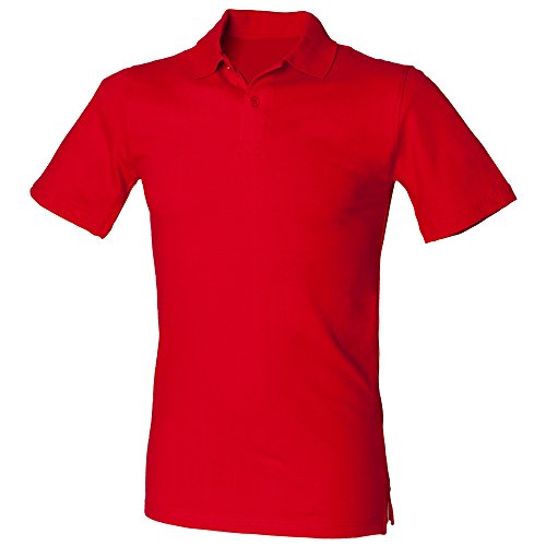 Henbury – Polo Stretch – Homme - Rouge - XL