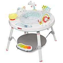 """Our modern baby activity center captivates baby from head-to-toe and provides a """"whole body"""" approach to play from four months to toddler Converts to a play table with plastic chalkboard surface. Foot support platform adjusts to the perfect height. P..."""