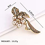 NZDY Fashionable Brooch Pin Brooch 2021 Fashion Beauty Women Button Glass Crystal Exquisite Flower Butterfly Pins Party Gift Man Bridal Brooch Pin/Ancient Silver/Ancient Silver