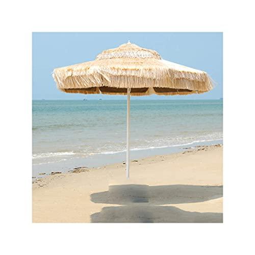 SuoANI Sombrilla De Paja para Exteriores, 8,8 Pies, Sombrilla Solar con Techo De Paja, Sombrilla Hawaiana para Piscina, Patio, Sombrilla De Playa, Sombrillas para Mesa