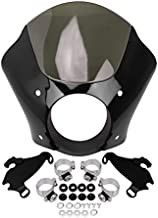 Black & Smoke Gauntlet Headlight Fairing Windshield with Fork Trigger Lock Mount Kit For Harley Davidson Sportster XL 883 1200 Street XG 500/750